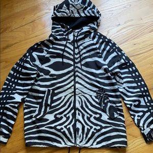 adidas zebra print windbreaker jacket